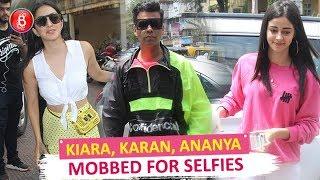 Kiara Advani, Karan Johar Ananya Panday Oblige Fans With Selfies