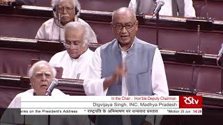 Digvijaya Singh's Remarks | Motion of Thanks on the President's Address in Rajya Sabha