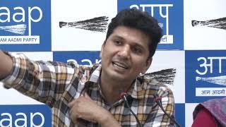 AAP Leader's Atishi & Saurabh Bhardawaj Briefs Media on Law and Order in Delhi