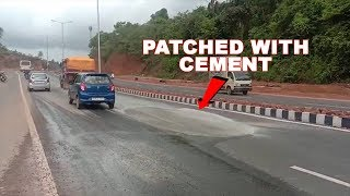 Newly-built highway in shambles after few hours of rain