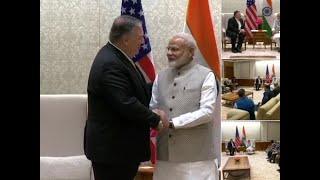 Mike Pompeo meets Prime Minister Narendra Modi