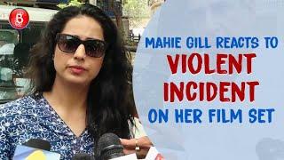 Mahie Gill & Fixer Team Meet The Maharashtra CM After Violent Incident On Sets