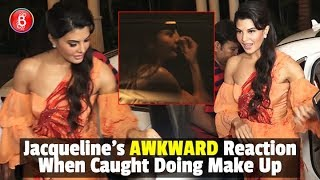 Jacqueline Fernandezs AWKWARD Reaction While Caught Doing Her Make Up