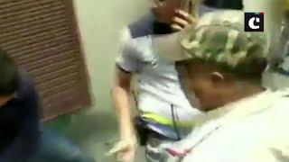 MP: Kailash Vijayvargiya's son MLA Akash thrashes a Municipal Corporation officer with a cricket bat