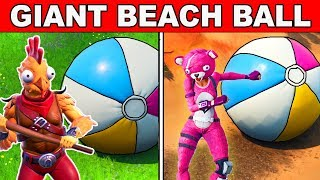 BOUNCE A GIANT BEACH BALL IN DIFFERENT MATCHES - 14 Days of Summer Challenges Fortnite Battle Royale