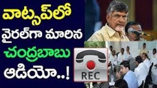 చంద్రబాబు ఆడియో లీక్ | Chandrababu Naidu Audio Leaked | AP CM Chandrababu Naidu Audio Goes Viral