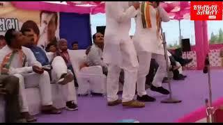 Congress leader Hardik Patel slapped during a public meeting in Gujarat