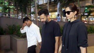 Sonam Kapoor And Anand Ahuja Spotted At Mumbai Airport