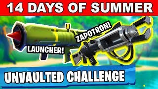 ELIMINATIONS WITH THE DAILY UNVAULTED WEAPON OR A DRUMGUN - 14 DAYS OF SUMMER FORTNITE BATTLE ROYALE
