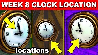 VISIT DIFFERENT CLOCKS - (ALL LOCATIONS) WEEK 8 CHALLENGES GUIDE FORTNITE BATTLE ROYALE