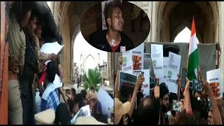 Charminar Par Tabrez Ansari Ko Lekar Protest | Got Arrested By Police At Charminar | @ SACH NEWS |