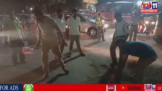 TRAFFIC POLICE DONE GREAT JOB CLEAR THE OIL ON ROADS AT CHADERGHAT  HYDERABAD