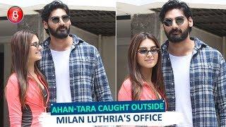 Ahan Shetty & Tara Sutaria CAUGHT Outside Milan Luthrias Office