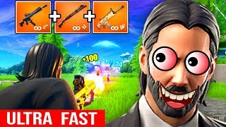 ULTRA FAST 2X SMG JOHN WICK CARRY FORTNITE PATCH 9.30 NEW META PRO GAMEPLAY