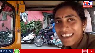 LADY DRIVING AUTO TO HELP HER HUSBAND FINANCIALLY AT PARSIGUTTA