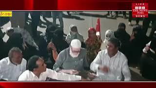 हैदराबाद के हबीब नगर थाने में राउडियों ने मचाया उधम, दो गिरफ्तार