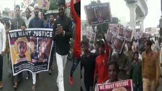Tabrez Ansari And And This Girl Need Justice | Big Protest At Malakpet Hyderabad | @ SACH NEWS |