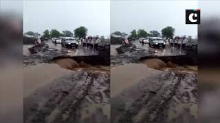 Road gets washed away in Maharashtra's Jalna following heavy rain in area