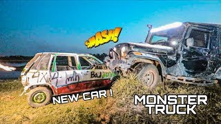 Destroying New Car By Monster Truck ????