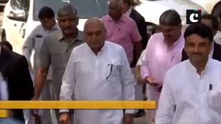 Bhupinder Hooda appears before CBI special court in Manesar land scam case