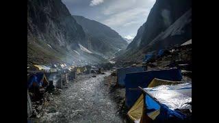Amarnath Yatra begins in Baltal area of Kashmir valley