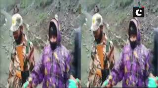 ITBP personnel help woman during Amarnath Yatra on Baltal route