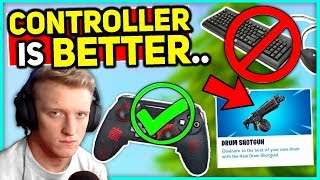 Tfue Switching to Controller! Fortnite Pro Highdistortion Left - DRUM SHOTTY Update Soon!