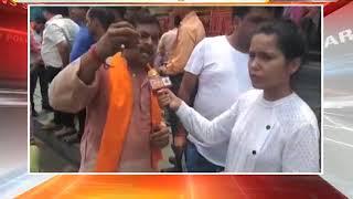 दिल्ली में अवैध मजार, सड़क पर नमाज के विरोध में हनुमान चालिसा पाठ