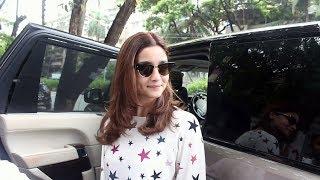 Alia Bhatt Snapped While Leaving Post Salon Session At Kromakay Juhu