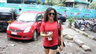 Sanya Malhotra Spotted At OSCAR Dance Rehearsal Hall Andheri