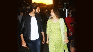 Bollywood's NEW JODI Kartik Aaryan And Sara Ali Khan Spotted At Airport