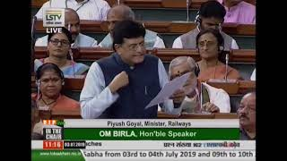 Railways Minister Shri Piyush Goyal's reply on the questions raised regarding LHB coaches in LS