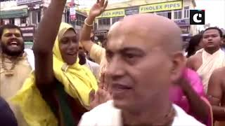 Devotees in large number arrive to attend world famous Jagannath Rath Yatra in Puri