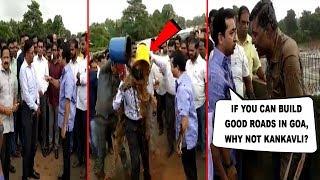 M'rashtra MLA Nitesh Rane Dunks Slush On Dy. Engg For Making Better Roads In Goa & Not M'rashtra!