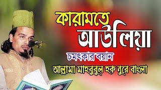 Bangla Waz   কারামতে আউলিয়া   আল্লামা মাহবুবুল হক নুরে বাংলা   Mahbubul Hoque Nure bangla   2019