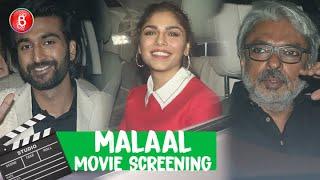 Malaal Movie Screening | Sharmin Segal | Meezaan | Sanjay Leela Bhansali