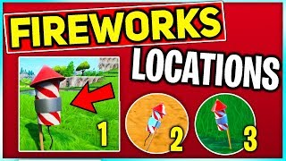 Launch Fireworks Found Along the River Bank! FORTNITE FIREWORKS LOCATIONS (Fortnite Battle Royale)
