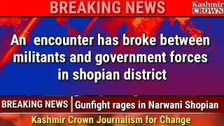 Encounter breaks out in Shopian village, Mobile internet suspended