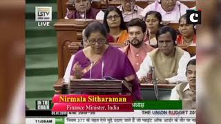 Union Budget 201: India took over 55 years to reach $1 trillion dollar economy, says FM Sitharaman