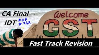 CA Final 2019 GST II Capter1 II Fast Track Revision II