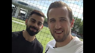 World Cup 2019: Harry Kane plays cricket with Virat Kohli at Lords, wishes him luck