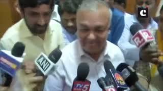 11 Congress, JD(S) MLAs meet Karnataka Speaker amid volatile political situation