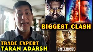 Saaho Vs Mission Mangal Vs Batla House | Trade Expert Taran Adarsh Reaction On Biggest Clash 15 Aug