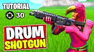 How to become PRO in Fortnite Drum Shotgun Tutorial - Fortnite Season 9 Advanced Tips and Tricks
