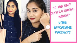 Office Makeup in 10 Minutes | Quick Everyday Makeup | Affordable Products | Oil Free Moisturizer