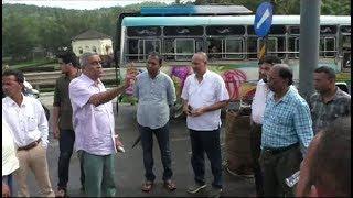 Sudin Dhavlikar Inspects On Going Highway Work At Ponda