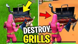 Destroy GRILLS with the Low n' Slow Harvesting Tool Locations! 14 DAYS OF SUMMER CHALLENGES FORTNITE