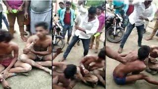 यूपी में चोरी करते पकड़े गए 3 युवकों को सरेआम नंगा कर पीटा, वीडियो वायरल