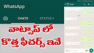Whatsapp New Hidden useful Features 2019 Telugu Latest | Top Telugu TV