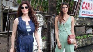 Sangeeta Bijlani And Kriti Sanon Spotted At Kromakay Salon Juhu - Watch Video